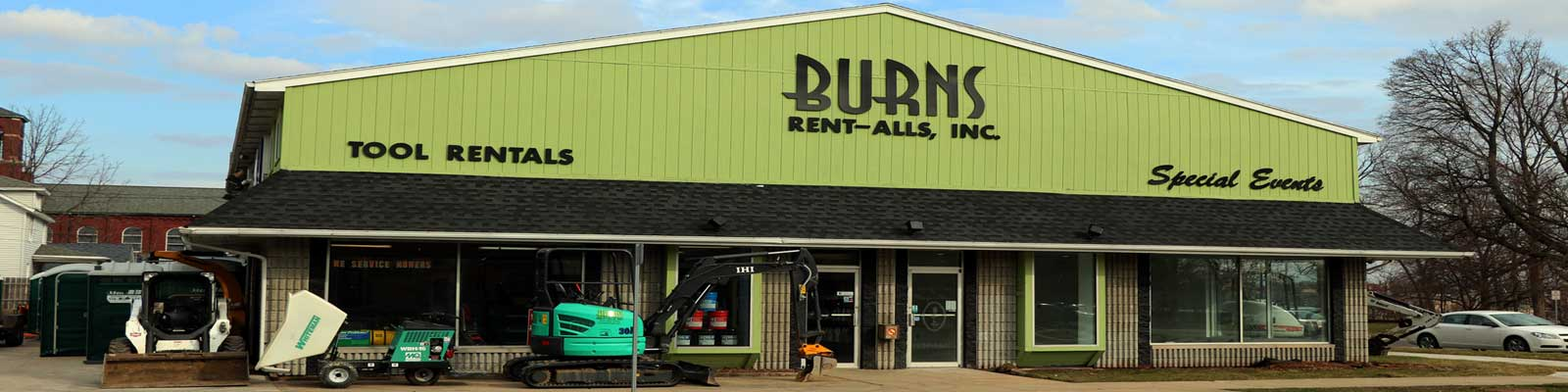 Burns Rent-Alls is conveniently located in Mishawaka IN
